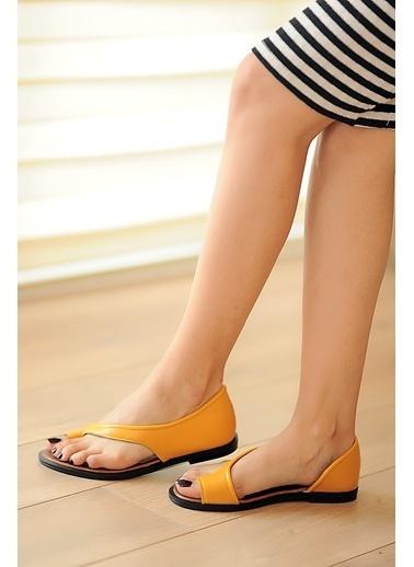 Pembe Potin A975-19 Kadın Sandalet A975-19 Hardal